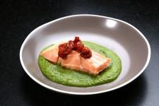 Saumon basse température, nage de persil