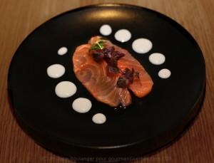 saumon gravlax crème de yuzu