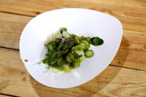 Asperge vertes de Régalys à la sauce végétale