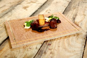 Boeuf, foie gras et purée frite