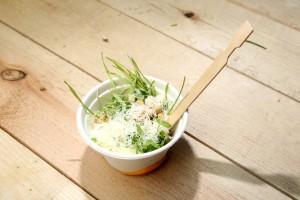 Fromage suisse et salade de croûtons