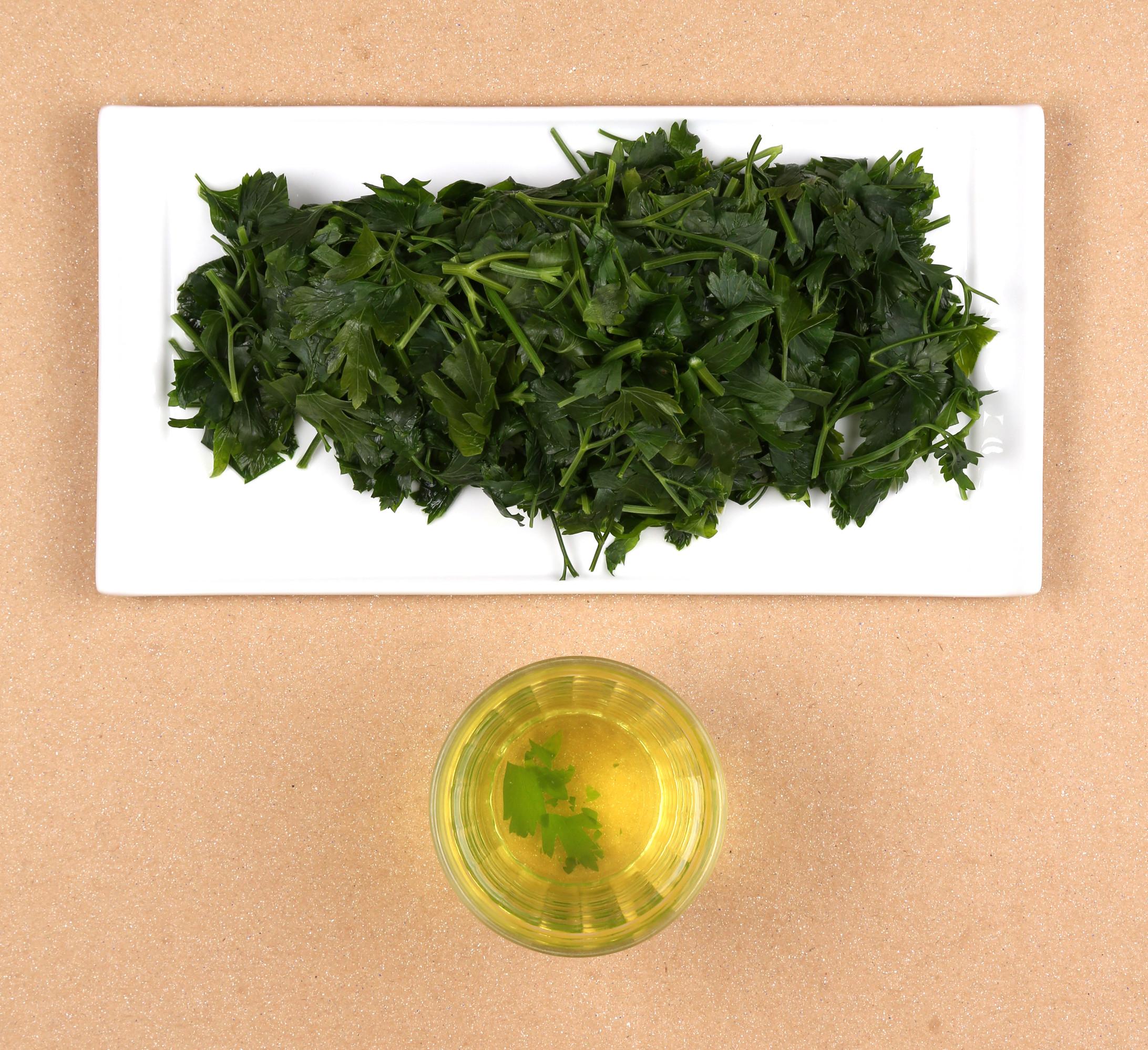 persil blanchi et son eau de cuisson