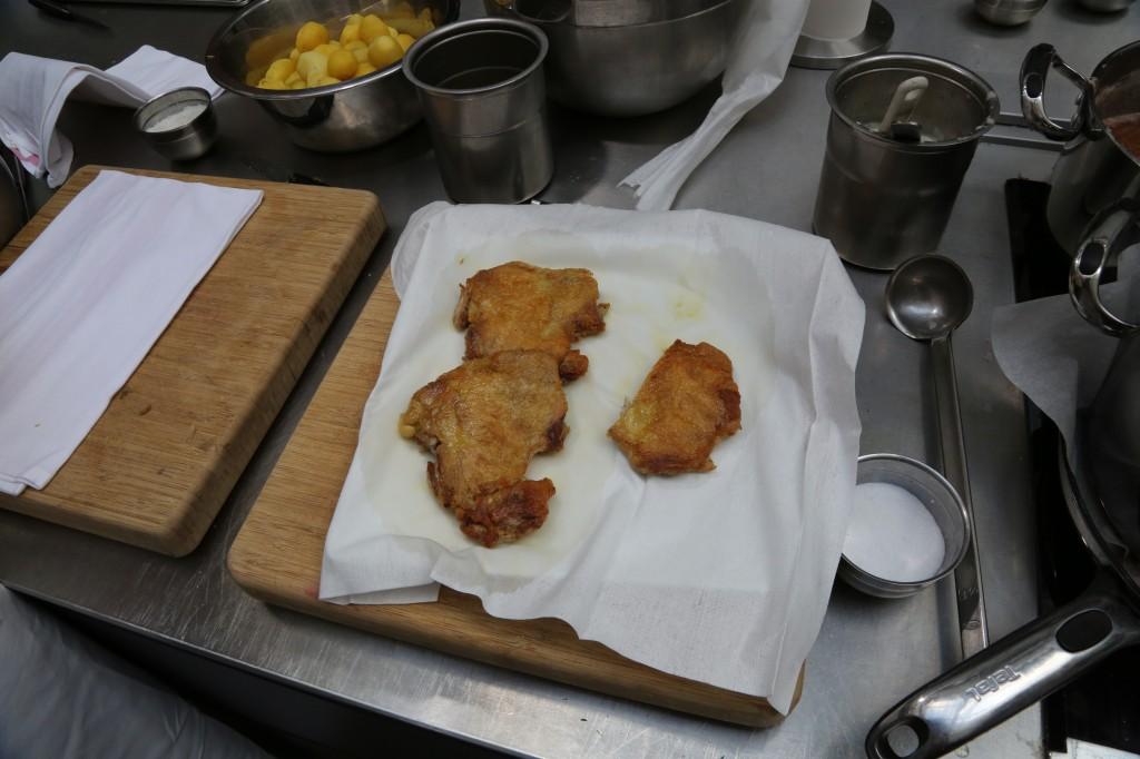 le poulet bien croustillant