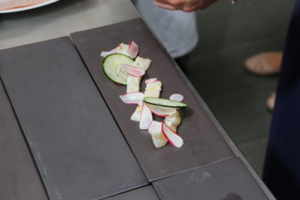 les rondelles de concombre