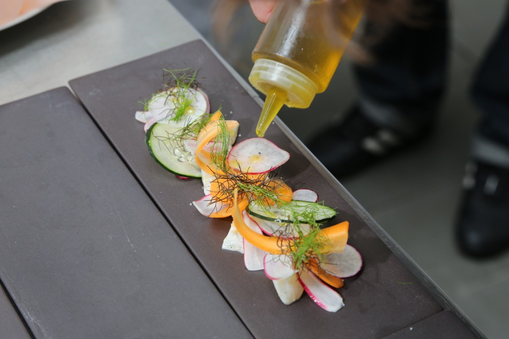 quelques gouttes d'huile d'olive et c'est prêt
