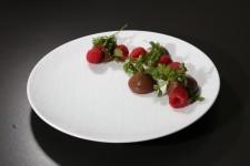 Crème chocolat, framboise et cerfeuil de Florent Ladeyn