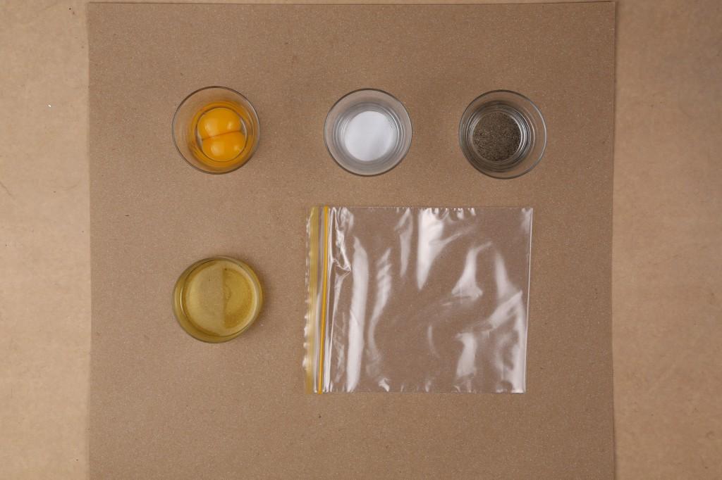 ingrédients pour les perles d'oeuf