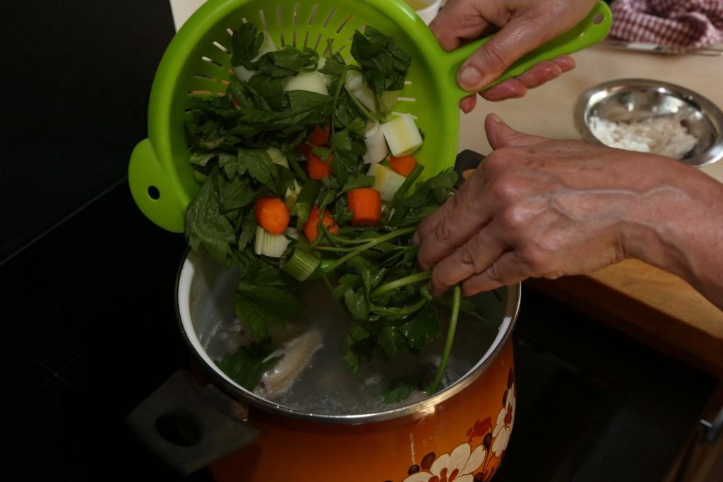 Versez les légumes