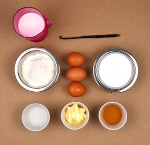 Ingrédients du canelé
