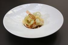 Rhubarbe, brioche et confiture de lait de Florent Ladeyn finaliste Top chef 2013