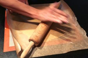 étalez la pâte finement
