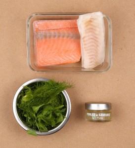 Ingrédients poissons et dressage