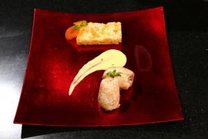 Déposer les morceaux de poulet sur l'assiette