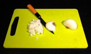 Coupez l'oignon