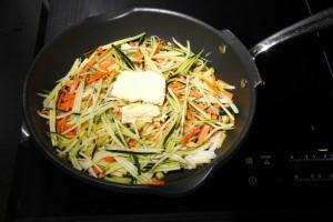 Faire revenir les légumes à feu doux