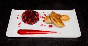 Déposez deux tranches de foie gras