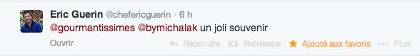 Tweet d'Eric Guérin