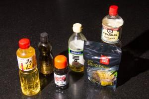 Ingrédients pour la sauce