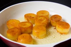 Pommes de terre en fin de cuisson