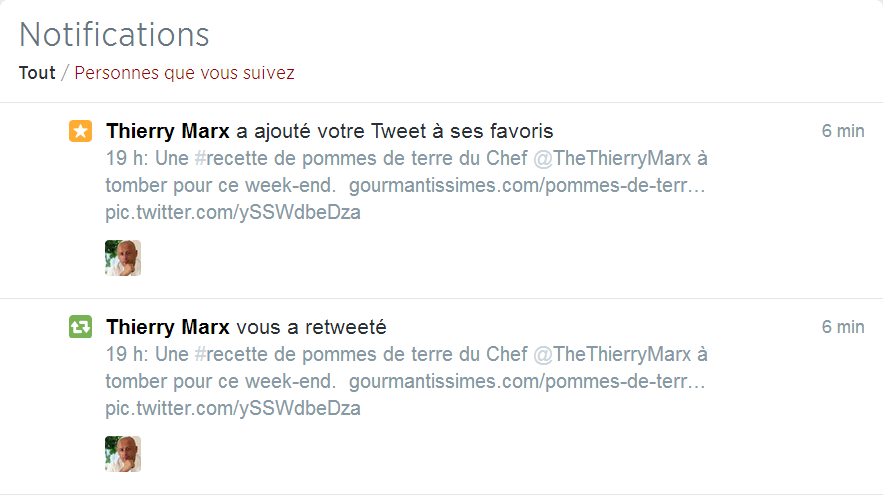 Twitter & Thierry Marx