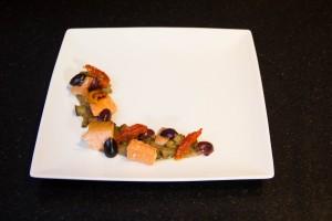Rajoutez les olives et tomates confites