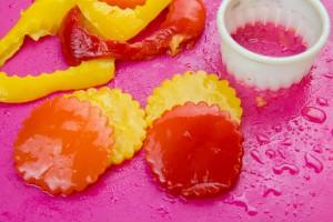 Découpez les poivrons en cercle