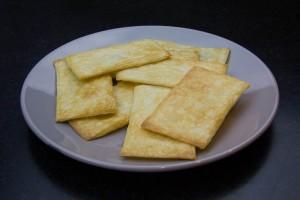 Rectangles de pâte feuilletée à la sortie du four