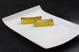 Dressez les tranches dans l'assiette