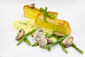Pain de sole brioché croustillant et ses petits légumes au beurre blanc de Yannick Alleno