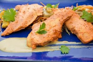 Poulet tandori basse température et sa salade croquante (cuisson basse température ou barbecue)