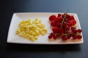 Fruits rouges et chocolat blanc
