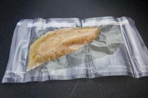 Mettez vos filets de poisson sous vide