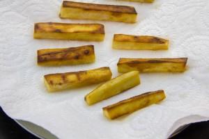Les frittes de panais sont cuites