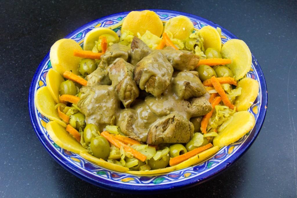 Veau aux olives et citron confit, basse température