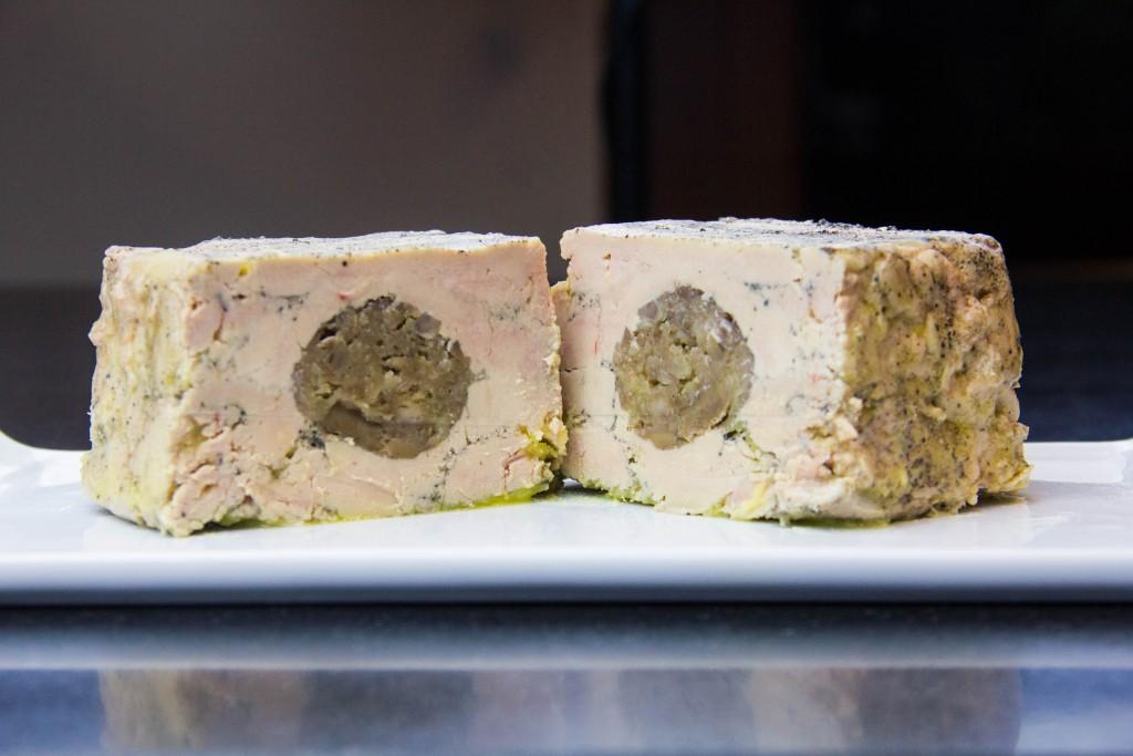 Terrine de foie gras maison aux marrons et au cognac