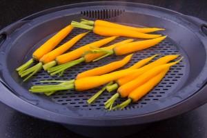 Cuire les carottes à la vapeur