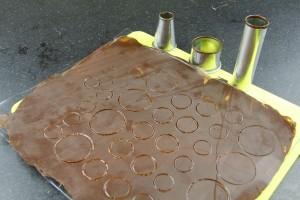 Marquez les empreintes de chocolat