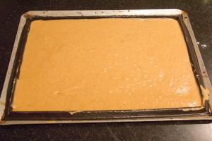 versez la pâte sur un cadre