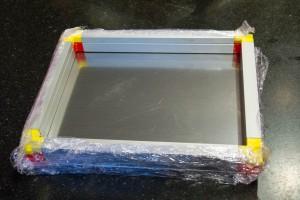 Filmez le dessous du cadre supperposable pour éviter les coulures de graisse