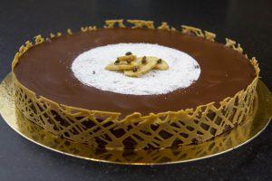 Tarte Bananatoffee (banane, chocolat, caramel beurre salé)