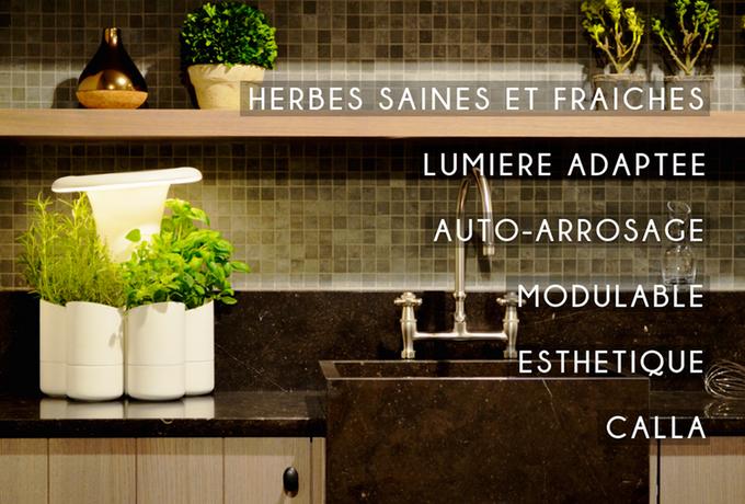 un jardin d 39 int rieur intelligent pour plantes aromatiques voici calla les gourmantissimes. Black Bedroom Furniture Sets. Home Design Ideas
