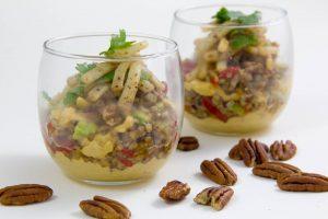 Salade dynamisante au sarrasin croquant et blancs de seiche