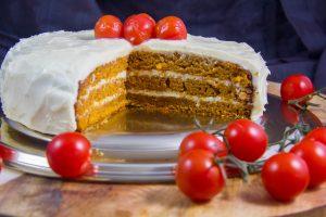 Le Bloody Cake de Mercotte (Le Meilleur Pâtissier) ou Tomato soup cake