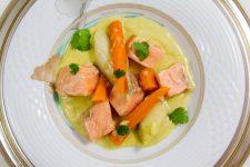 Blanquette de saumon aux saveurs asiatiques, basse température