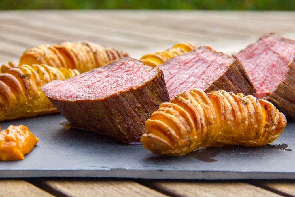 R ti de boeuf basse temp rature et ses pommes de terre en ventail les gourmantissimes - Cuisson filet de boeuf au four chaleur tournante ...