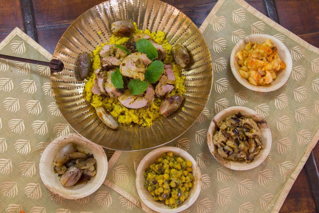 Gigot d'agneau à l'indienne, basse température