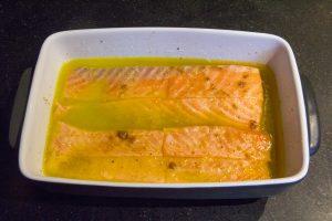 Saumon confit à l'huile basse température