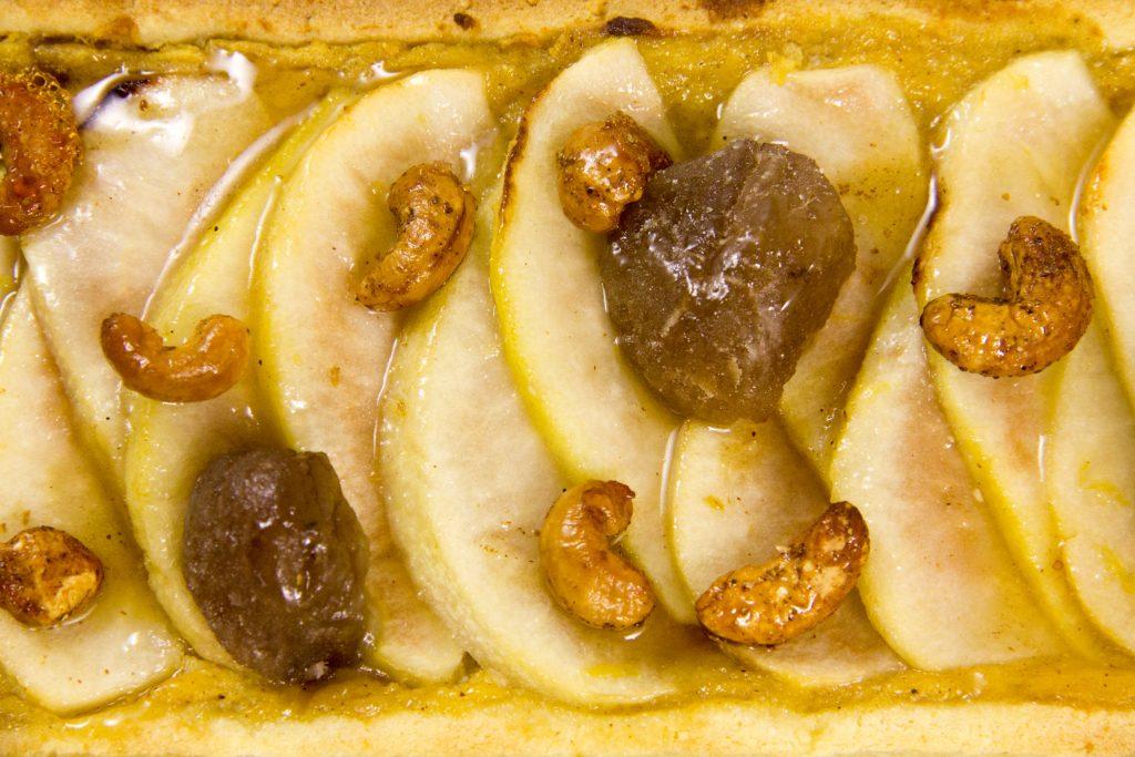 Tarte d'automne (potiron, marrons glacés et poires)