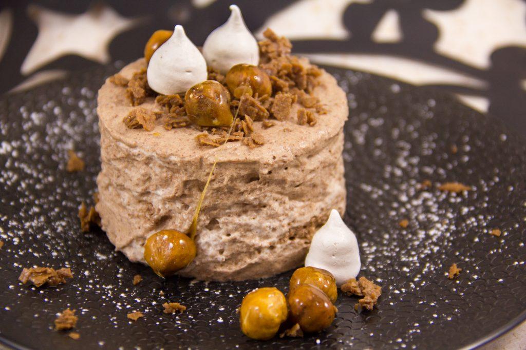 Mousse chocolat onctueuse, croquante et festive
