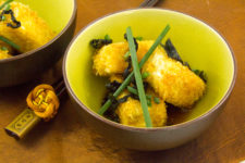 Croquettes de tofu, sauce aux algues